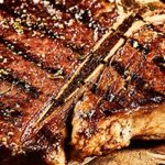 Asian Glazed T-Bone Steak with Minty Pineapple Salsa Recipe