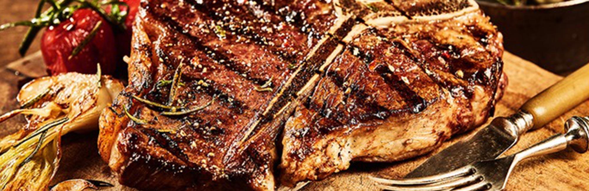Asian Glazed T-Bone Steak with Minty Pineapple Salsa Recipe