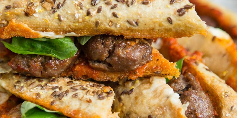 Beef Meatball and Mozzarella Baguette