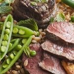 Beef Medallions with Grain Salad