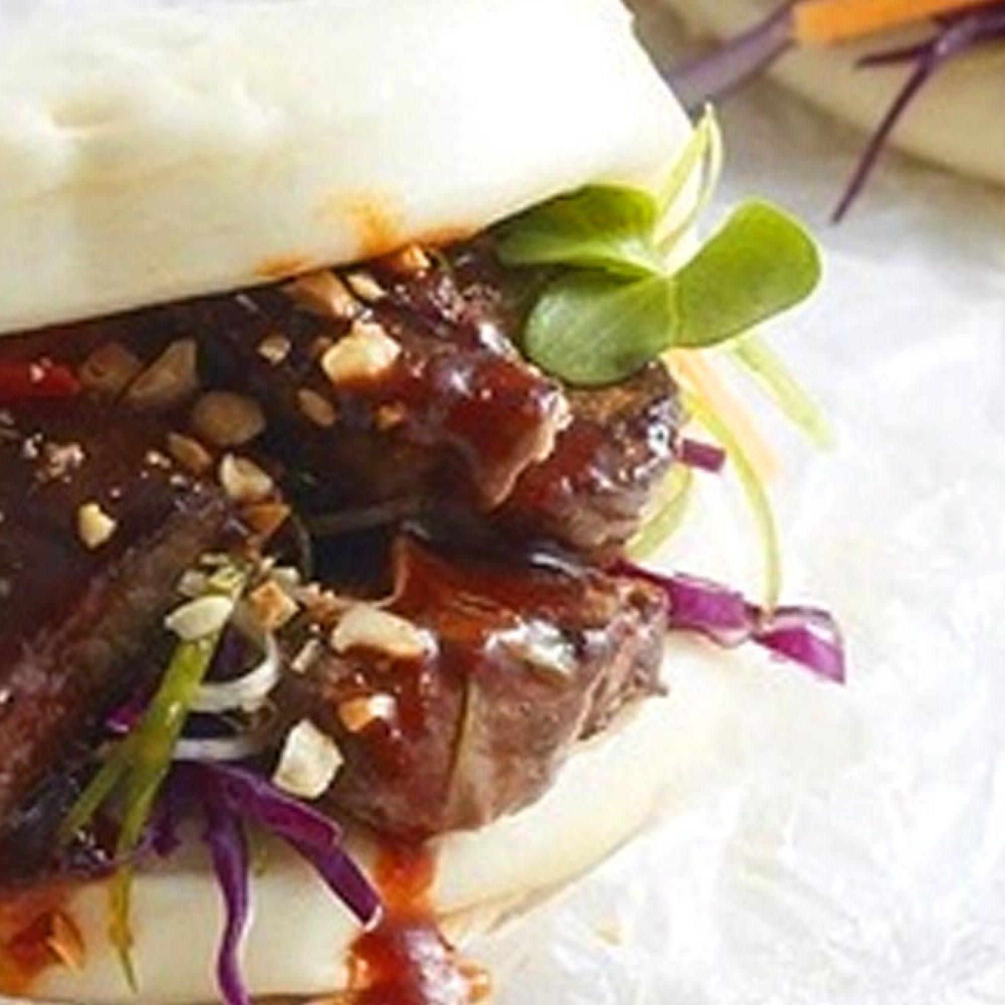 Beef Stir-Fry in Bao Buns