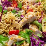 Chicken Avocado and Crunchy Noodle Salad