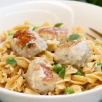 Creamy Chicken Meatball Pasta