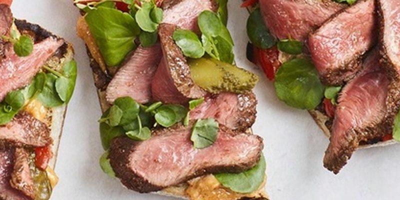 Cuban-style Beef Flat-Iron Sandwich
