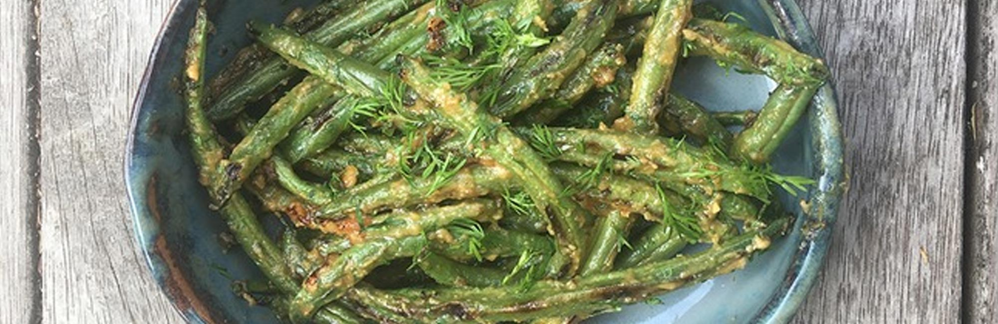 Green Beans, Garlic and Miso