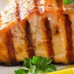 Grilled Salmon Steak with Leeks Recipe