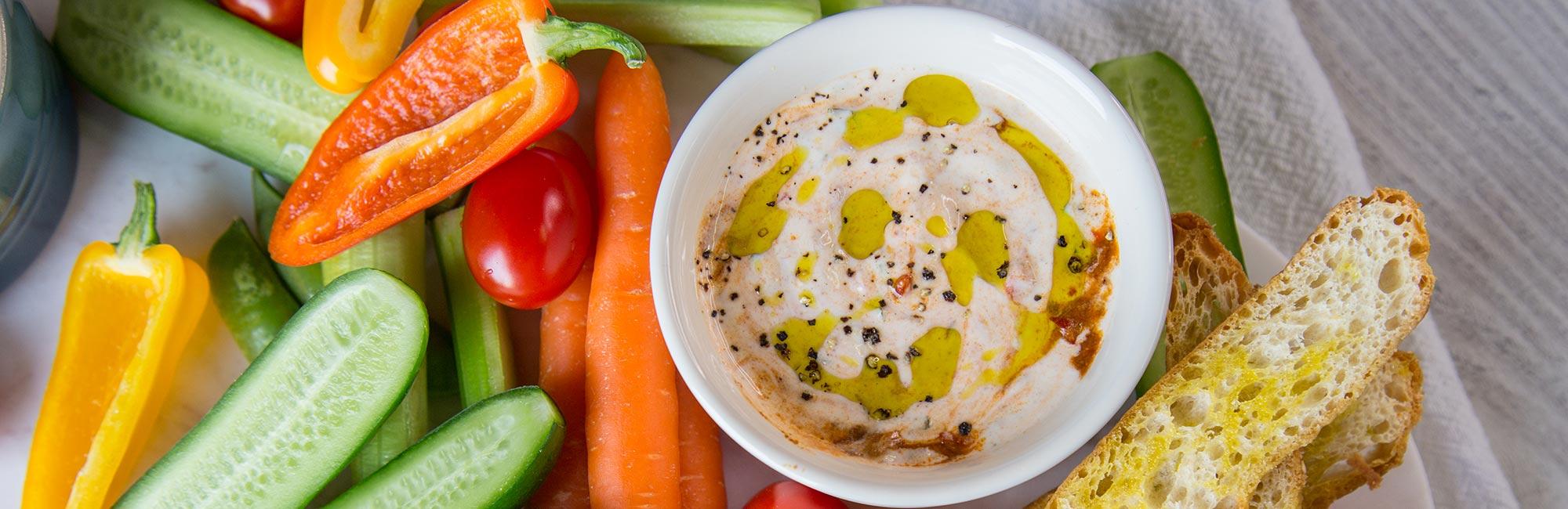 Harissa Yoghurt Dip Platter