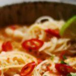 Laksa with Chicken, Shrimp & Noodles Recipe