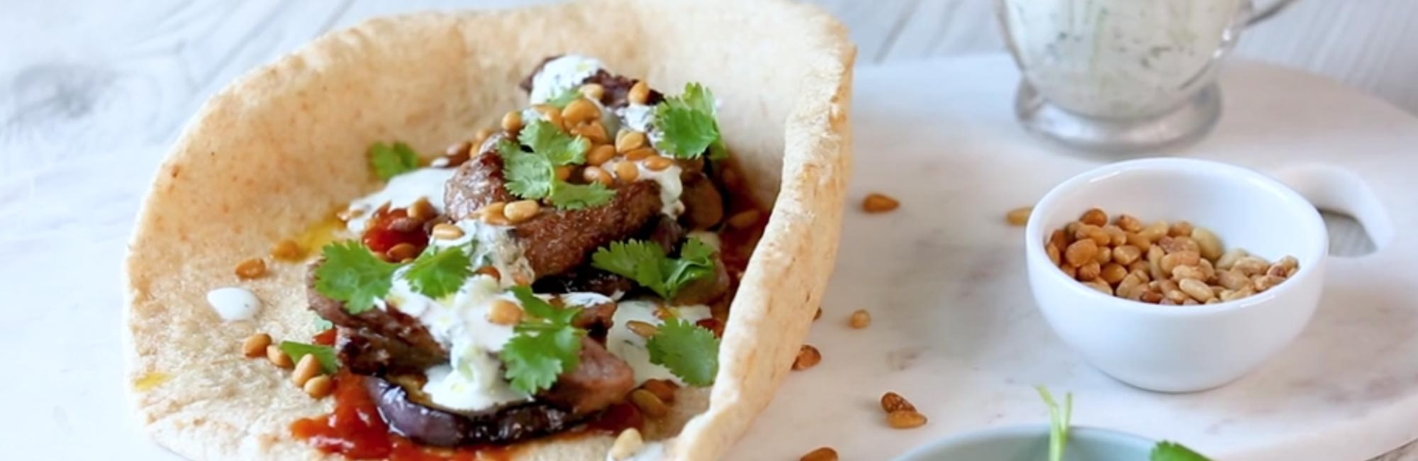 Lamb and Tzatziki Pita Breads