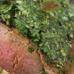 Marinated, Roasted Beef Fillet Rolled in Fresh Herbs
