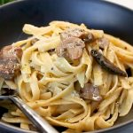 Mushroom and Garlic Fettuccine