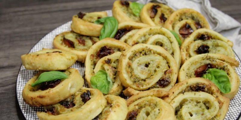 Pesto Pastry Wheels