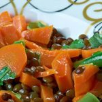 Puy Lentils with Baked Veges Recipe