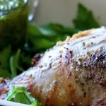 Garlic and White Wine Roast Lamb with Pesto