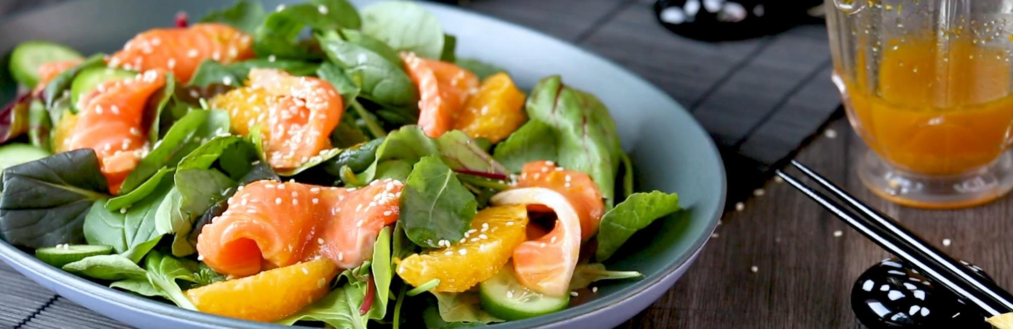 Salmon Sashimi Soy and Orange Salad