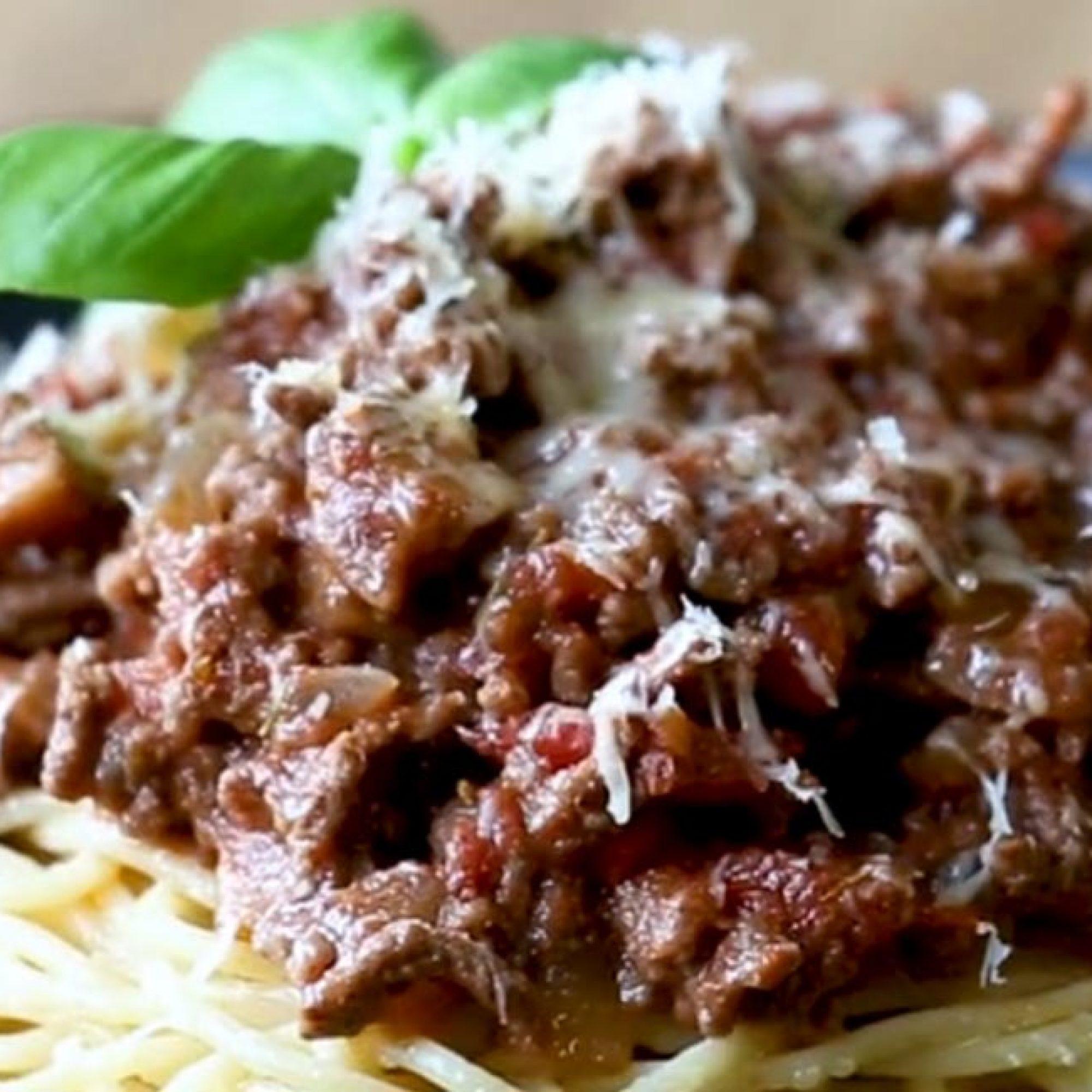 Saucy Spaghetti Bolognese