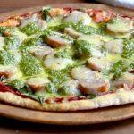 Sausage Rocket and Pesto Pizza