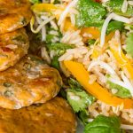 Thai Fish Cakes with Herb Salad