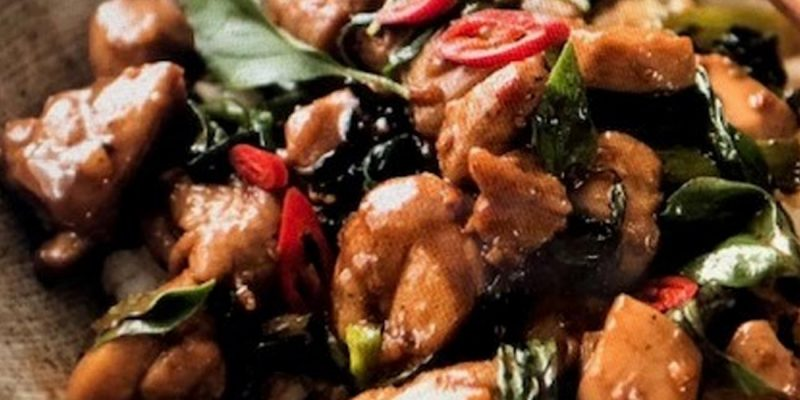 Thai Style chicken with chilli and basil