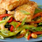 Sesame Tofu and Chilli Vegetable Stir Fry