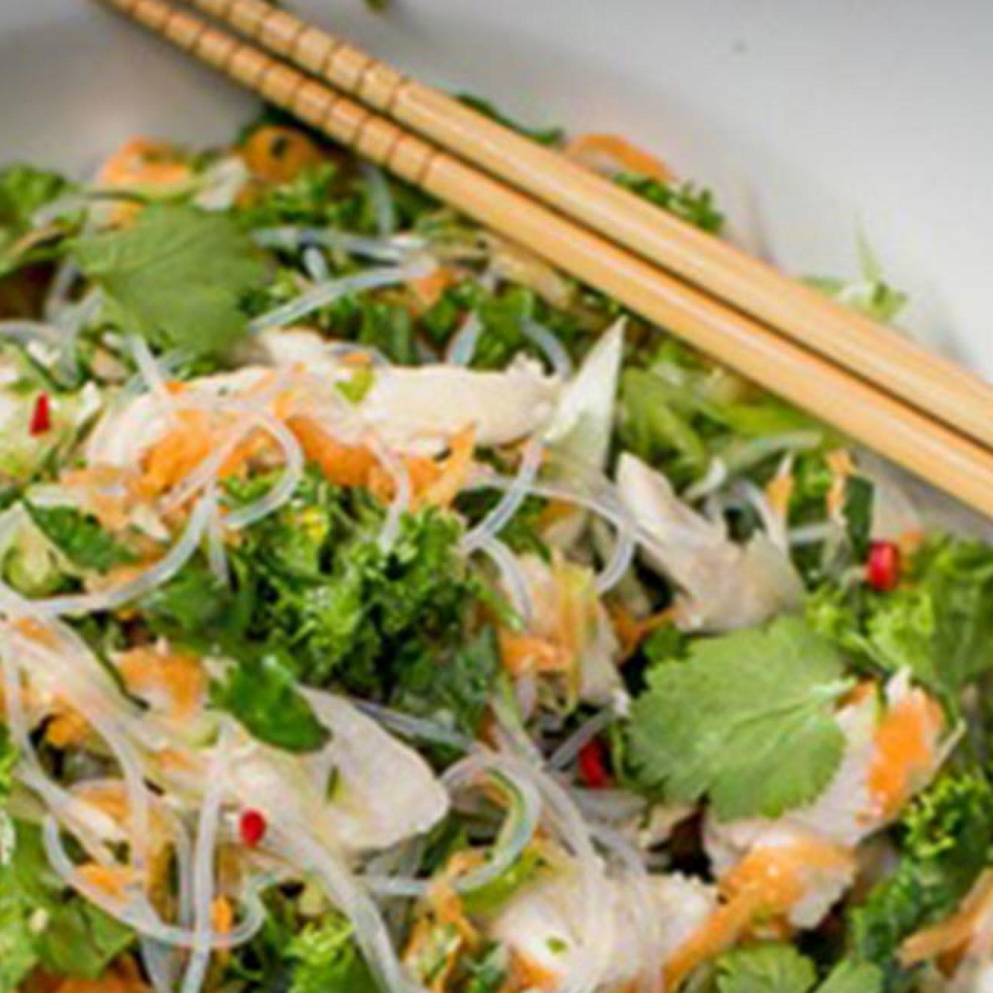 Vermicelli Coconut Chicken Salad Recipe