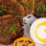 BBQ Mussel Fritters & Garlic Lemon Aioli