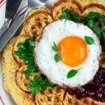 Chorizo & Cheddar Breakfast Waffles
