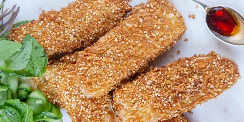Crispy Quinoa Tofu