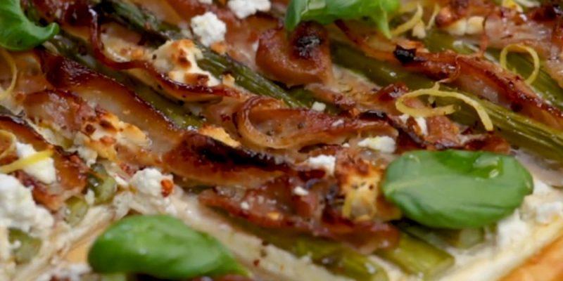 Streaky Bacon & Asparagus Tart
