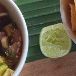 Tuna Tataki with Avocado and spring onion
