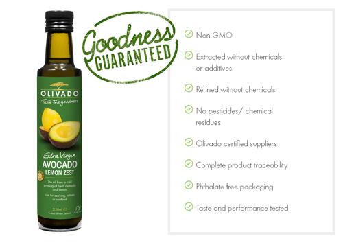Olivado avocado oil with lemon zest