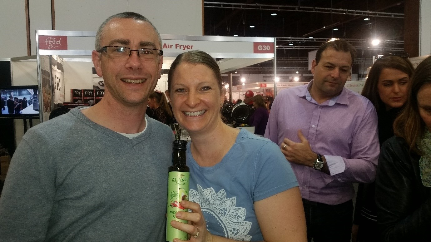 Customers delight in trying Olivado oils