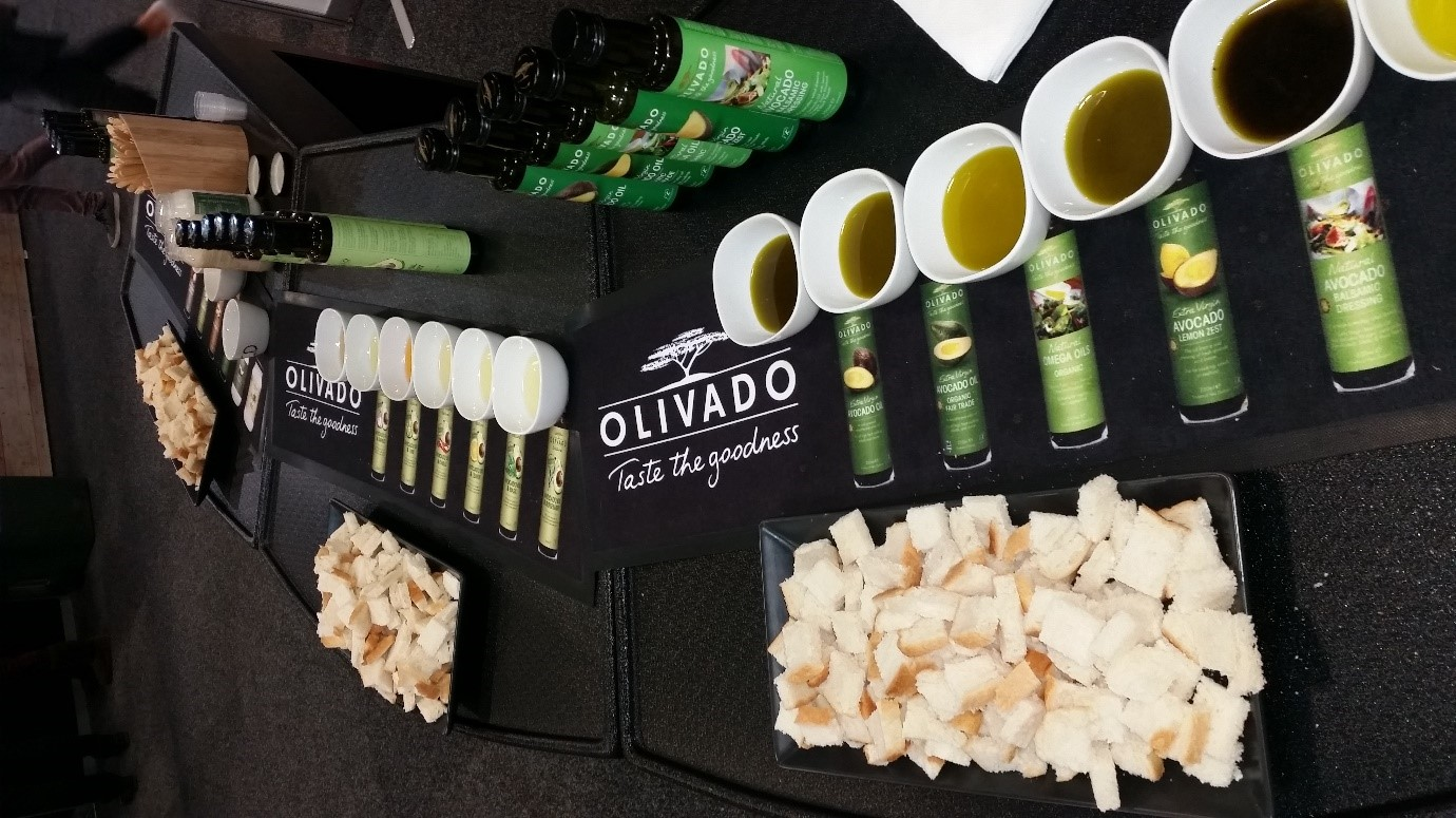 Olivado's product range at the Auckland Food Show