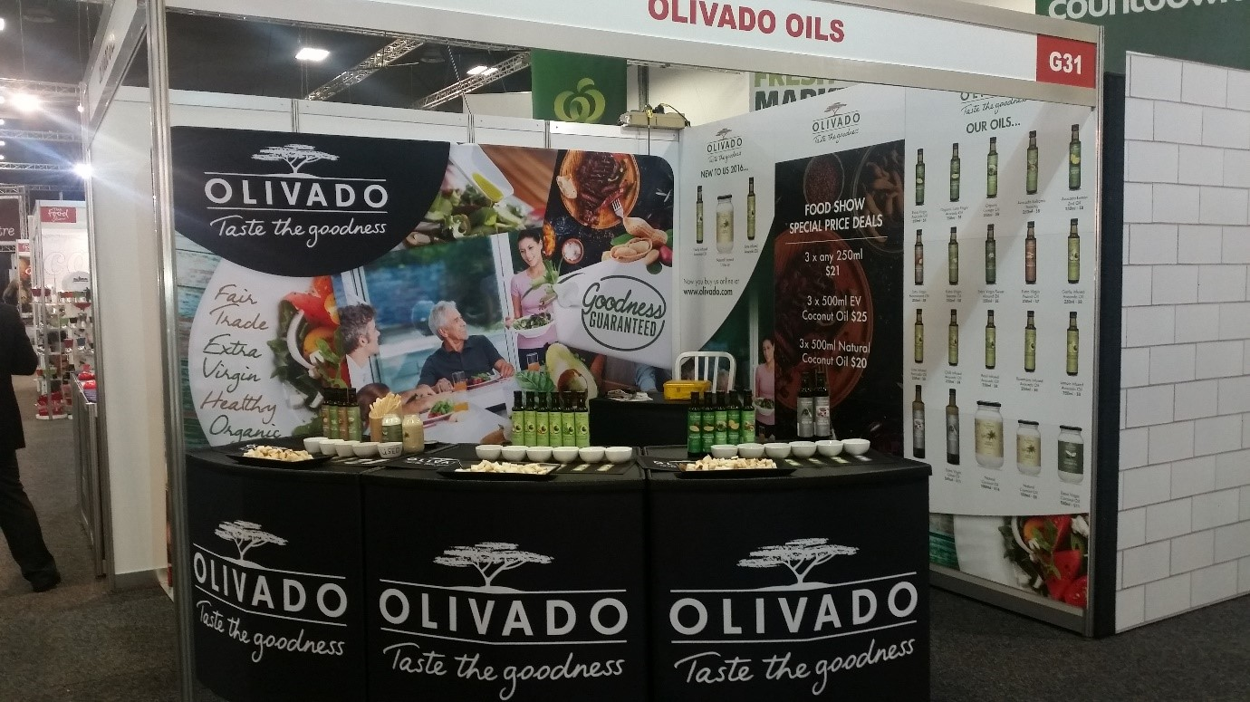 Olivado food stall at the Auckland Food Show