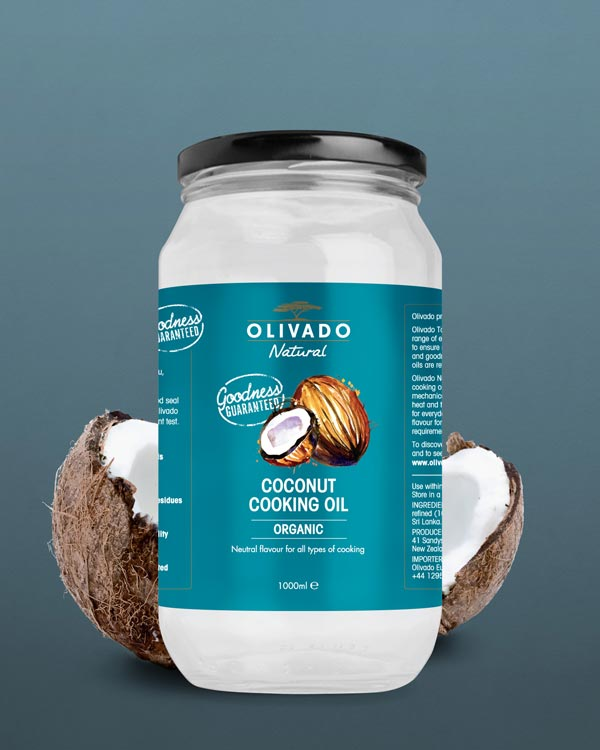 Olivado Coconut Cooking Oil 1000ml - Organic
