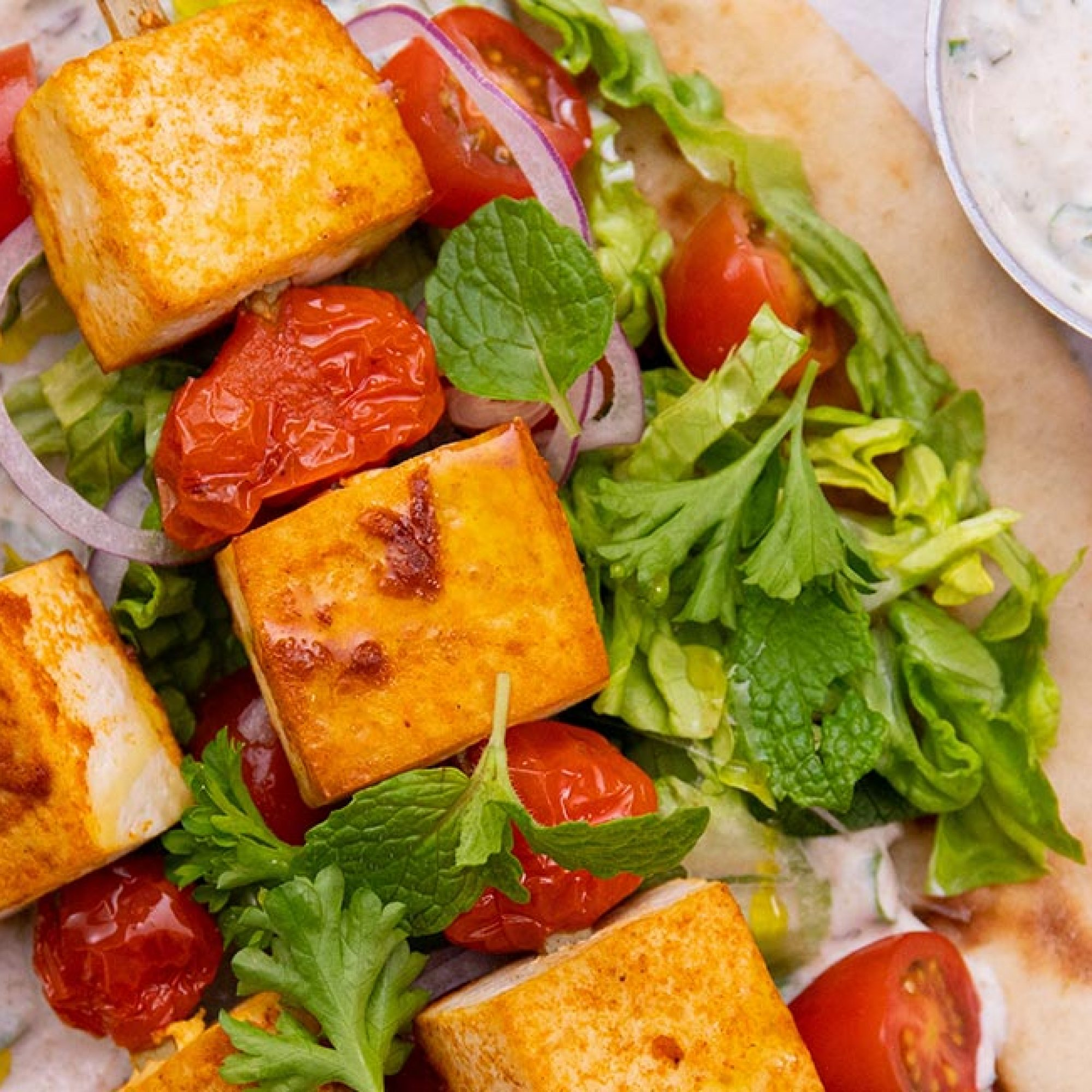 Baked Tofu Shish Kebab