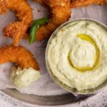 Crunchy Fried Giant Prawns with Avocado Aioli Recipe