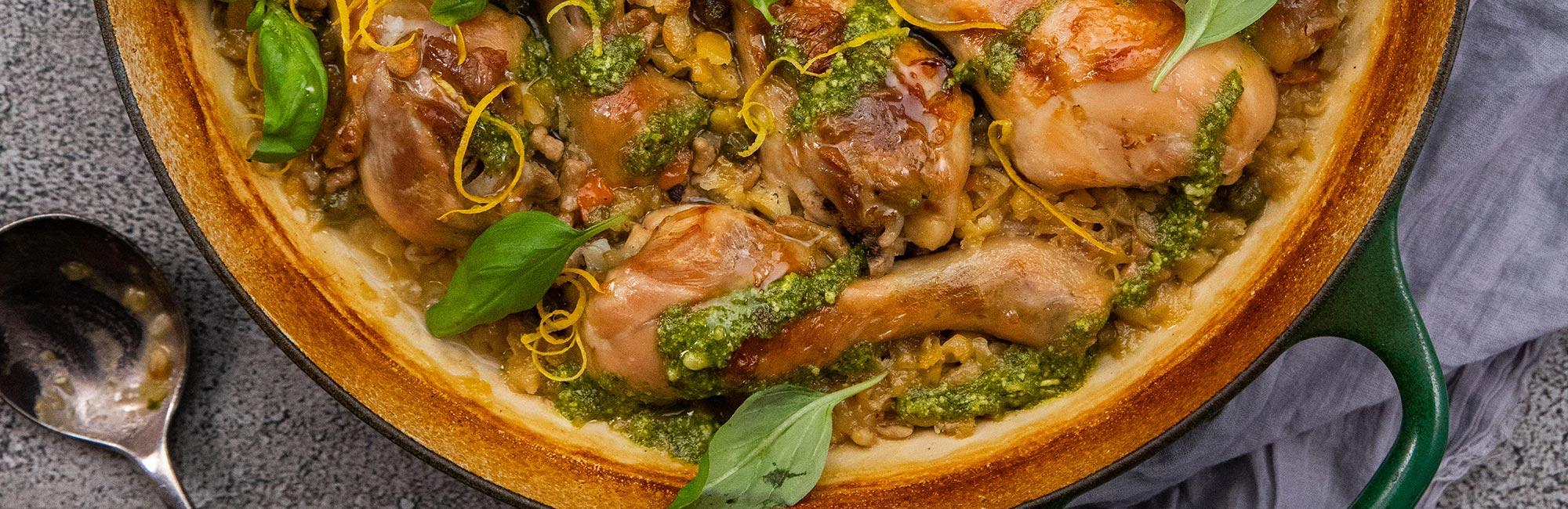 Lemon Chicken Drumsticks and Vegetable Casserole Recipe