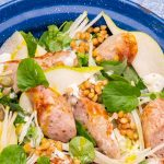 Sausage & Pear Salad with Blue Cheese Dressing Recipe