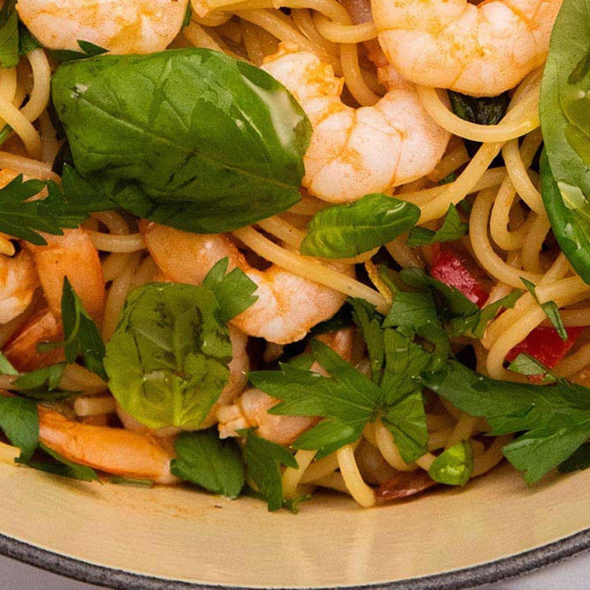 Spicy Prawn & Tomato Spaghetti