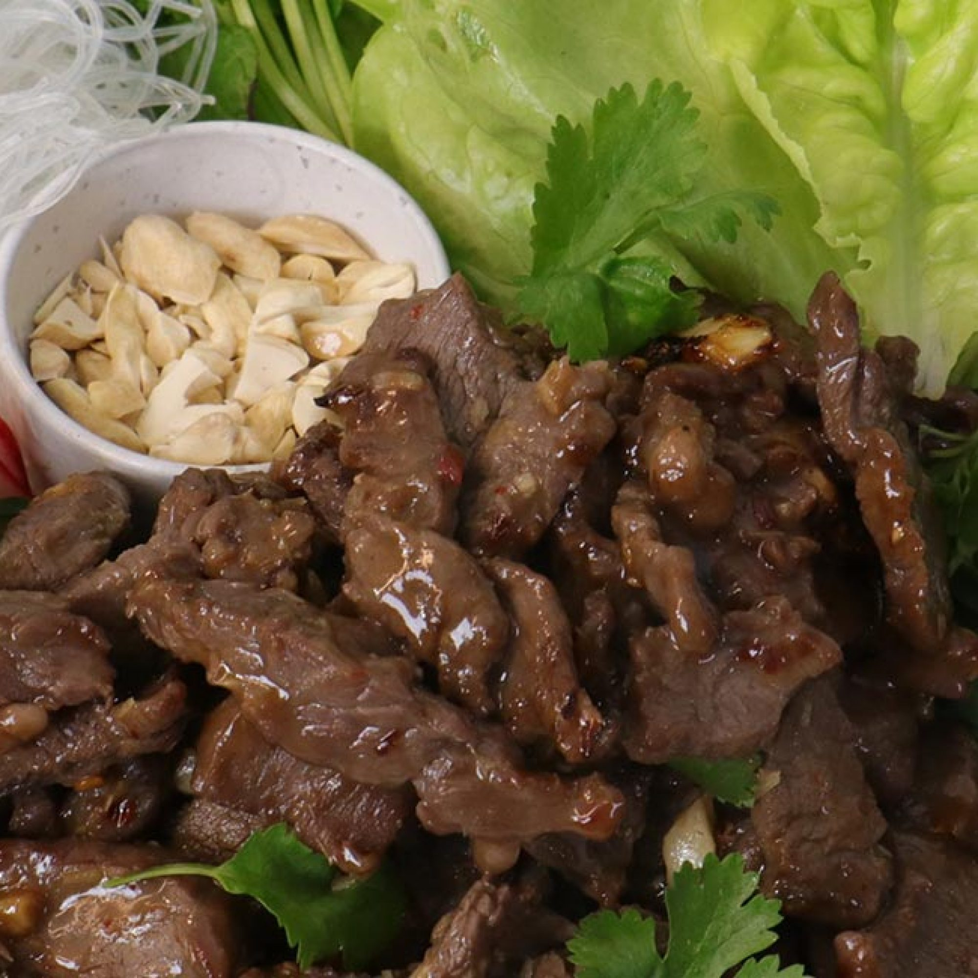 Lemongrass Beef Salad with Spring vegetables