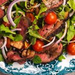 Beef steak tagliata with rocket salad recipe