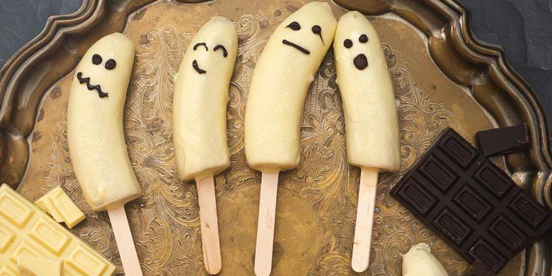 Chocolate banana ghosts recipe