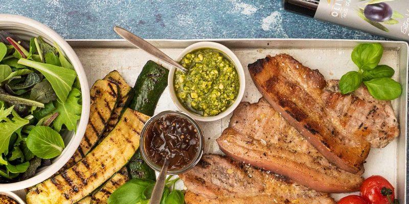 BBQ Pork & Summer Vegetables Recipe