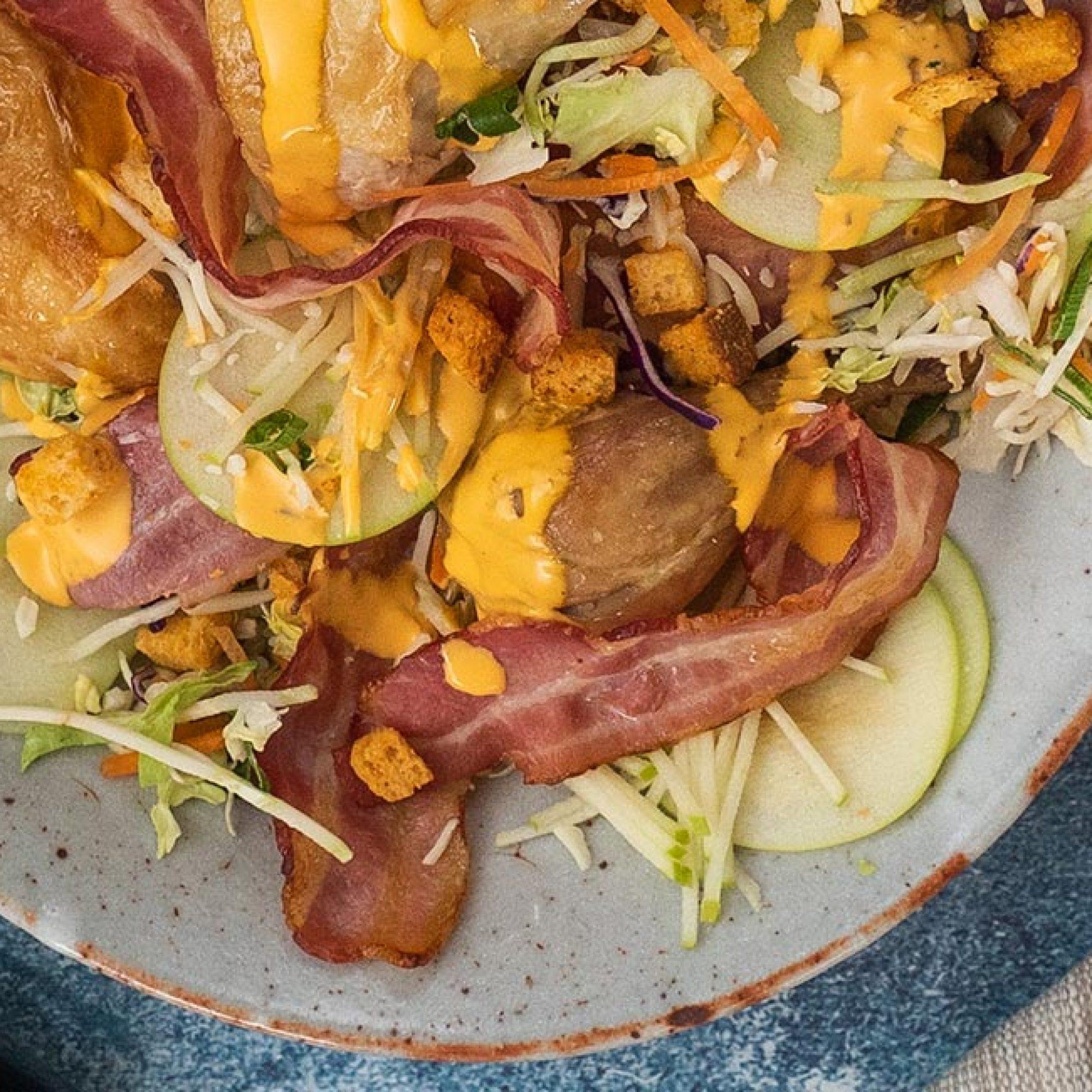 Smokey Chicken & Bacon Buffalo Ranch Salad recipe