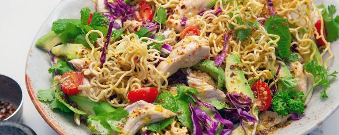 Chicken salad - Avocado and Noodle Salad