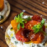 Whipped Ricotta, Roast Tomato & Basil Corn Thins Recipe