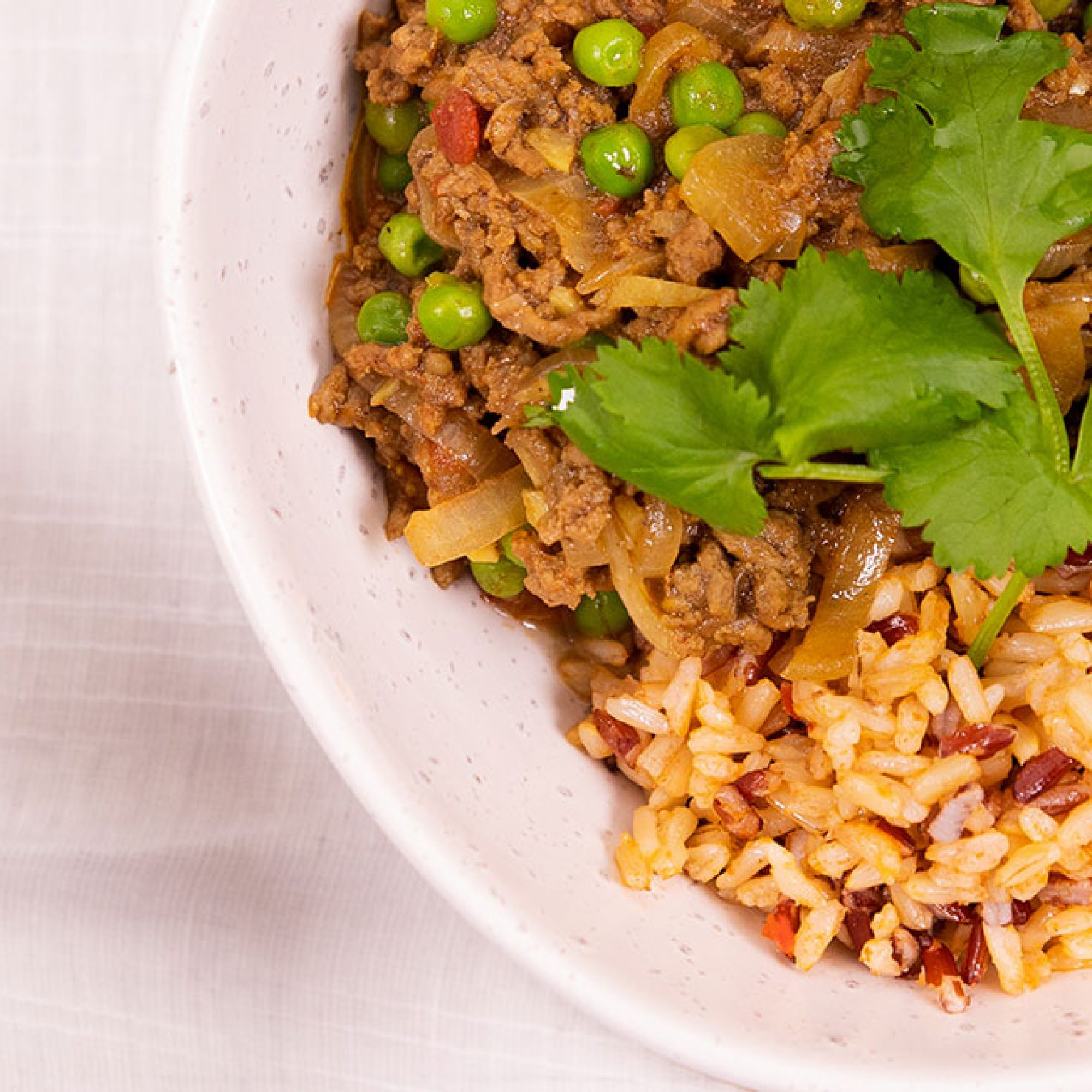 Curried Mince & Chilli Garlic Rice Recipe